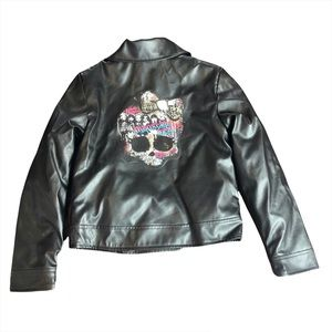 Size 8 Monster High Faux Leather Moto Jacket